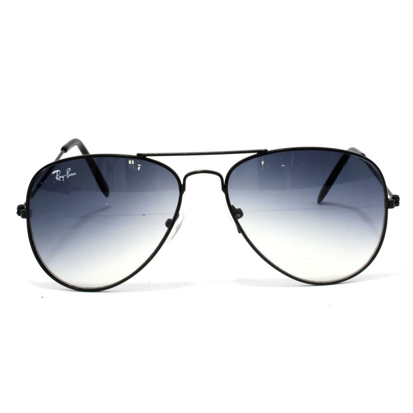 RAYBAN SHADED BLUE LENS AVIATOR  SUNGLASSES